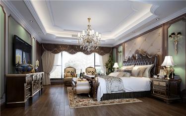 自由与浪漫——第一眼就爱上的美式情调-中粮本案小区450平米别墅美式装修案例