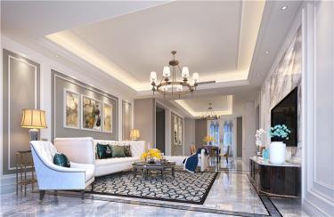 198m²温馨美式五房,美得不像话!-国宾一号小区198平米5室美式装修案例