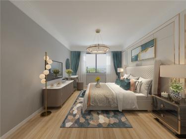 极致、摩登,都市魅力,超凡享受│外滩155m2-外滩一号小区155平米4室美式装修案例
