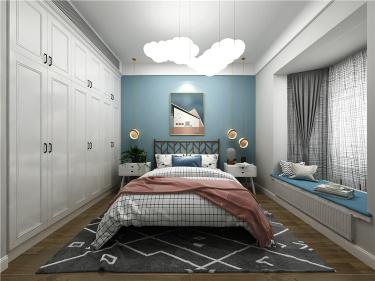 90平北欧设计·简洁天地  享受优雅的慢时光-东浜花园小区90平米3室北欧装修案例