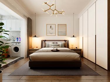 92平3室现代卧室