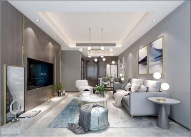130㎡现代 | 生活原本就该这样优雅从容!-优步水岸小区88平米3室现代装修案例