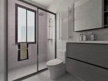 112平3室现代卫生间