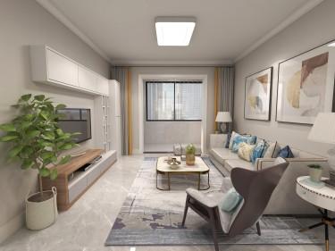 112平3室现代客厅