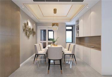 170㎡实用与时髦并存的雅奢风之家!-公园道一号小区170平米5室现代装修案例
