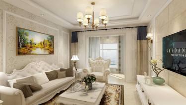110平3室简欧客厅