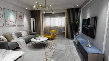 106平3室简欧客厅