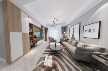 101平3室现代客厅