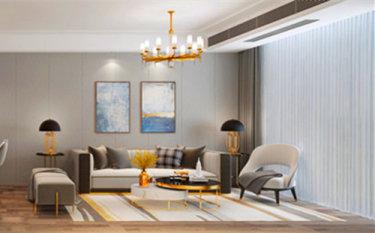 106平2室现代客厅