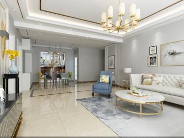 三室两厅140m²:雅灰+浅咖,演绎现代简约风的空间哲学