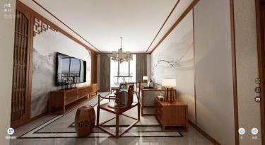 当哲学遇到禅意-青山丽景小区130平米3室中式装修案例