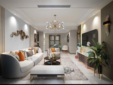 117平3室现代客厅