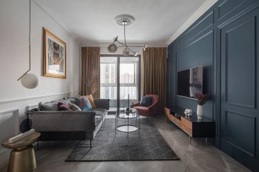 别具一格的法式休闲风格案例-运河壹号府小区89平米3室法式装修案例