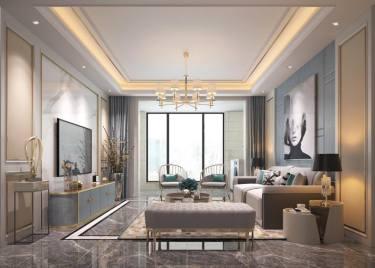 108平3室现代客厅
