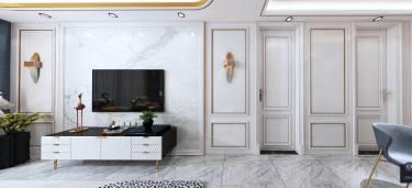 缤纷,最华年-东方蓝海小区124平米3室简欧装修案例