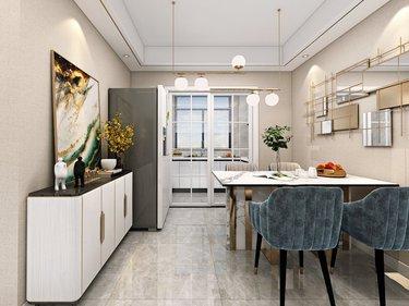 新婚夫妻的现代生活-高速御府小区114平米4室现代装修案例