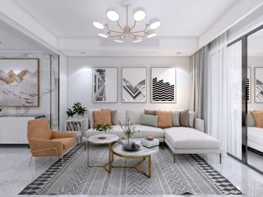 现代轻奢的完美阐述-皖江一号院小区129平米4室现代装修案例