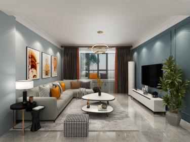 北欧风格空间设计-梧桐印象小区126平米3室北欧装修案例
