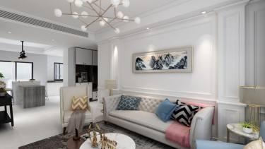 美式也可以是轻松舒适的-品尊国际公寓小区125平米2室美式装修案例