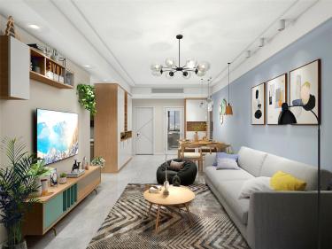 原木的味道-水韵花都小区89平米3室现代装修案例