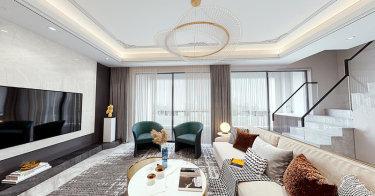 151平复式,打造安静有质感的轻奢-南山楠小区151平米跃层/复式现代装修案例