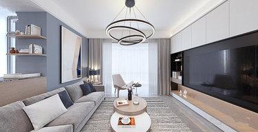 120平大三房,原来现代简约如此柔美而时尚!-君地风华小区120平米3室现代装修案例
