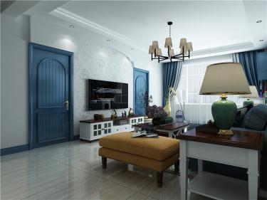 地中海——蓝宝石之恋-海通佳苑小区126平米3室地中海装修案例