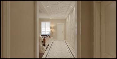 线条美感的清新简欧复式楼