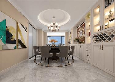 232平美式空间,打造家的温度-苏杭之星小区232平米4室美式装修案例