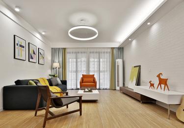 140平宜阳小区北欧风格-挪威森林-宜阳小区小区140平米3室北欧装修案例
