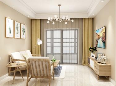 在日式简约中享受清闲-水漾花城小区89平米3室日式装修案例