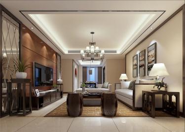 最美的东方设计-尚城花园小区140平米4室新中式装修案例
