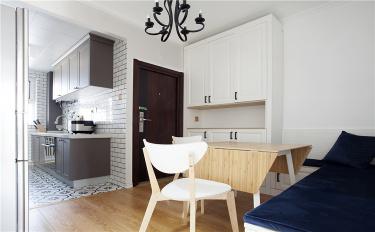 """小居室""""偷""""出大空间?一个隔断就让客厅多出了一间卧室-杨柳国际新城SOHO公寓小区75平米1室北欧装修案例"""