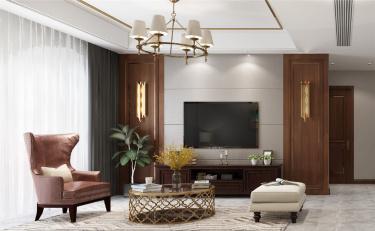 简而不凡,从容优雅-鲁能公馆小区250平米别墅美式装修案例