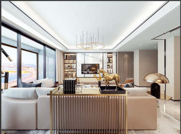 鎏金时代-熙悦府小区220平米4室现代装修案例