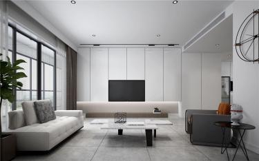 简单生活-香滨水岸小区130平米3室现代装修案例