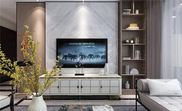 轻奢生活-招商公园小区280平米5室现代装修案例