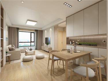 追溯最真实纯粹的生活方式-华润紫云府小区80平米2室日式装修案例