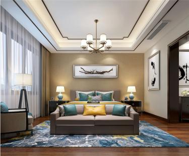 新中式 沉稳大气之所-姑苏雅集小区270平米别墅新中式装修案例