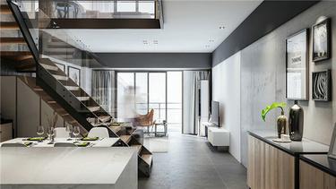 个性魅力128平现代别墅-万科溪之谷小区128平米别墅现代装修案例