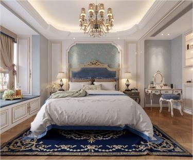 155平汀海壹品法式风格-风情、精致生活-汀海壹品小区155平米4室法式装修案例