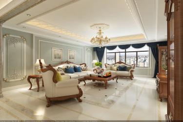 221平正翔国际法式风格-浪漫古堡-正翔国际小区221平米5室法式装修案例