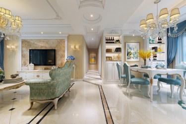 285平金域蓝湾名门简欧风格-雅素-金域蓝湾名门小区285平米5室简欧装修案例