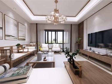 140平美好和居新中式风格-闲居雅趣