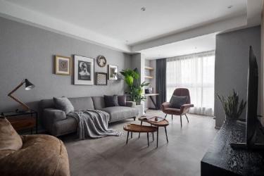 110平名士豪庭现代风格-高级灰的冷色调