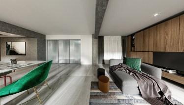 50平万达茂现代风格-开放性空间的随意搭配-万达茂小区50平米1室现代装修案例