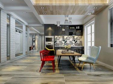 130平红星城市广场北欧风格-北欧魅力-红星城市广场小区130平米3室北欧装修案例