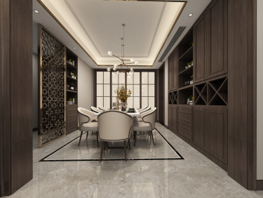 150平长安府新中式风格-长安府小区149平米3室新中式装修案例