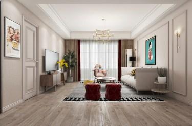 120平3室简欧客厅