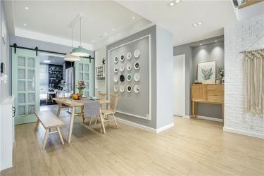 98㎡温馨小北欧 简单清新的惬意生活-科友星城小区98平米3室北欧装修案例